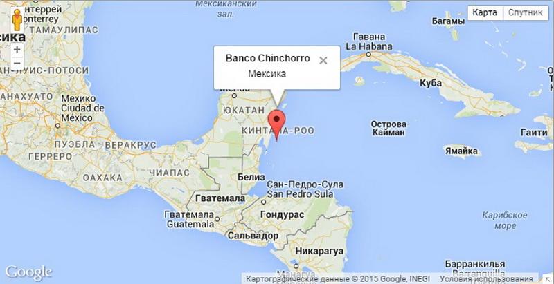 Карта дайвинг Чинчорро