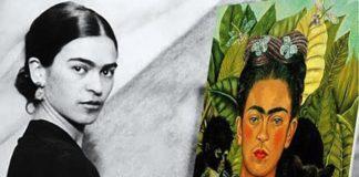 Фрида Кало за мольбертом