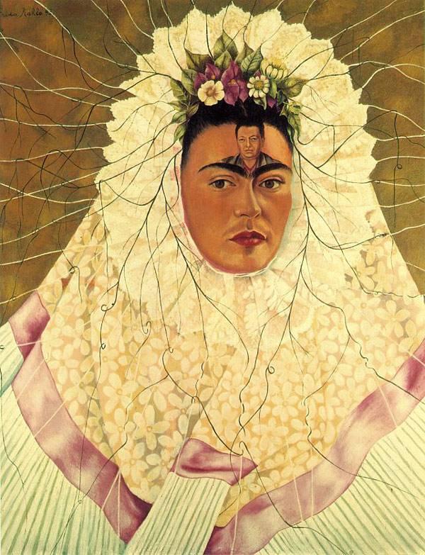 """Фрида Кало """"Автопортрет """"(Диего в мыслях)"""