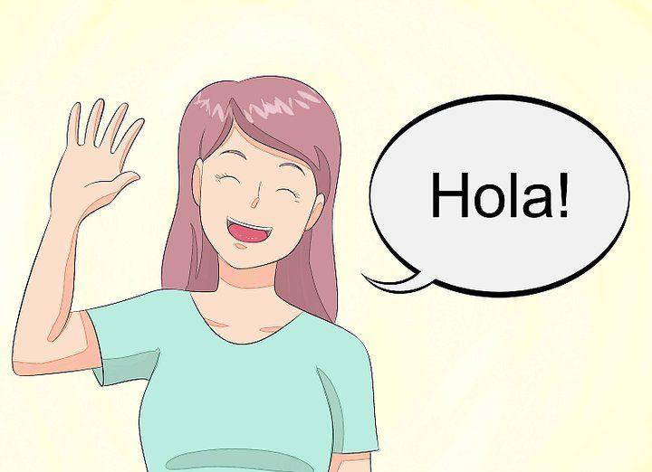 Hola - привет по Испански