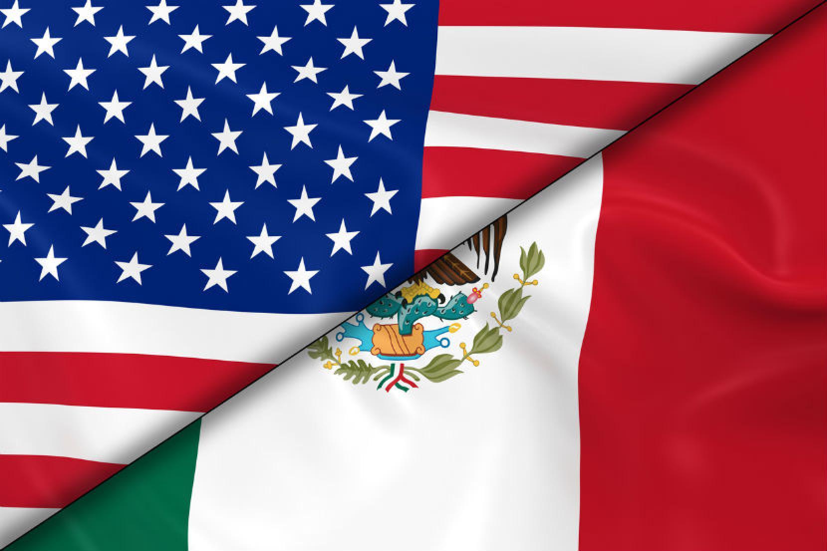 Штаты Мексики на границе с США