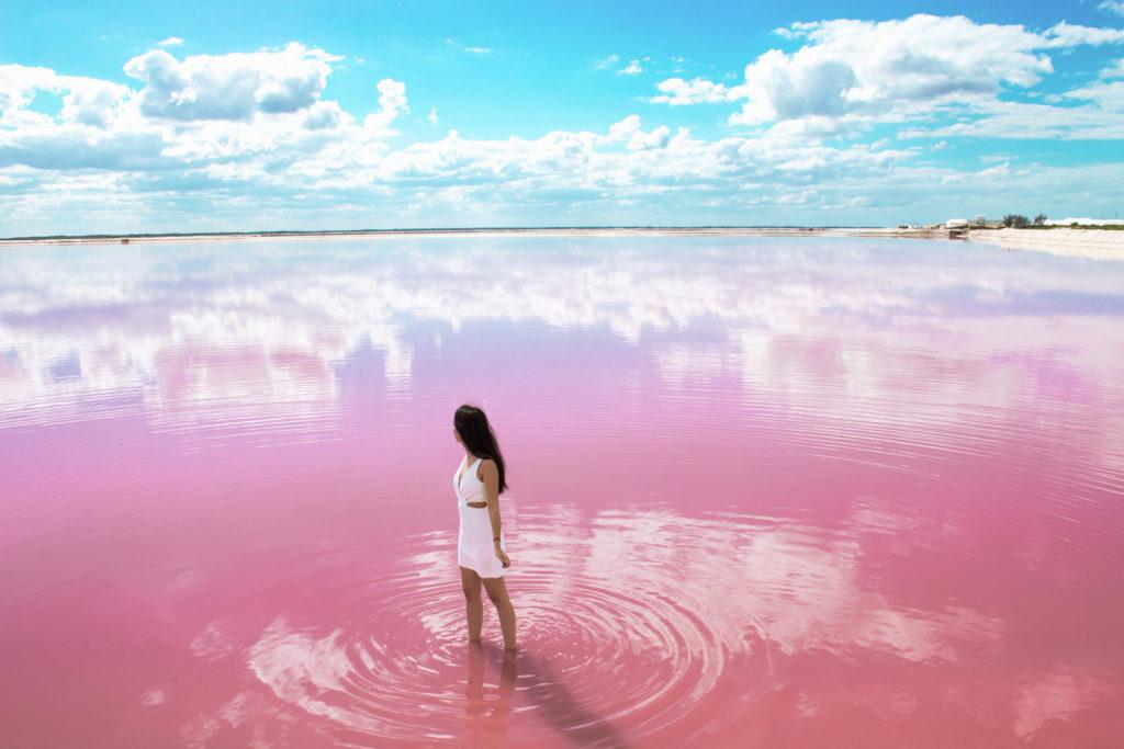 Лас Колорадос. Розовые озера