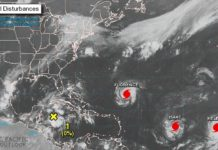 Ураганы Исаак и Елена Мексика