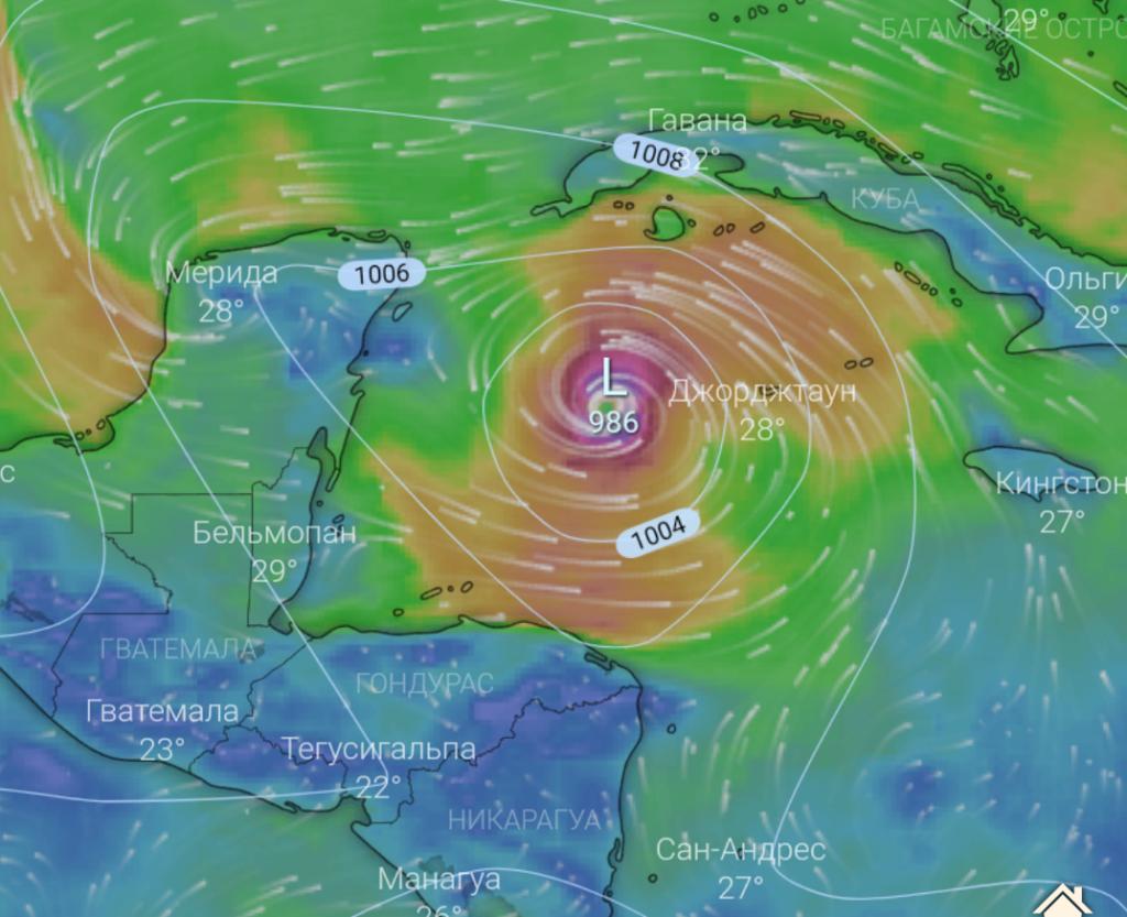 Ураган в Мексике