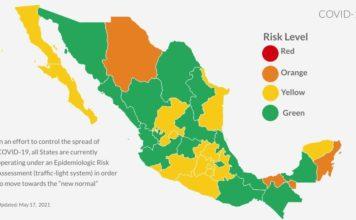 Covid светофор Мексика Канкун